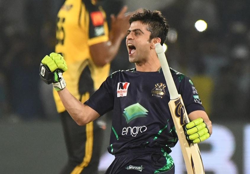 Ahmed Shehzad guided the chase with a half-century
