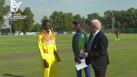 U19 CWC Africa Q: Uganda v Sierra Leone – Toss and captain interviews
