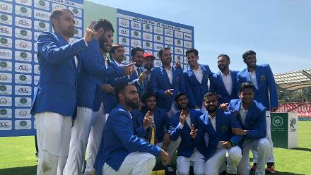 Finally, history was captured as a bunch of blue blazers, a trophy and an array of wide smiles came together at the end!