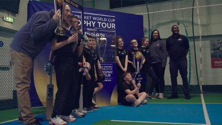 #CWCTrophyTour surprises young cricketer Louisa Moore