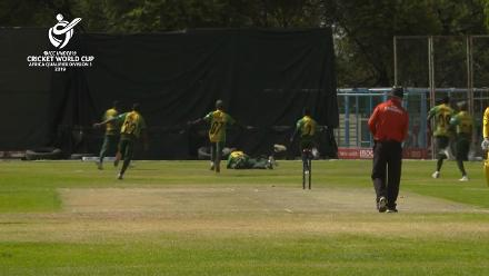 U19 CWC Africa Q: Uganda v Nigeria: Mohammed Taiwo takes final wicket as Nigeria defeat Uganda in dramatic style