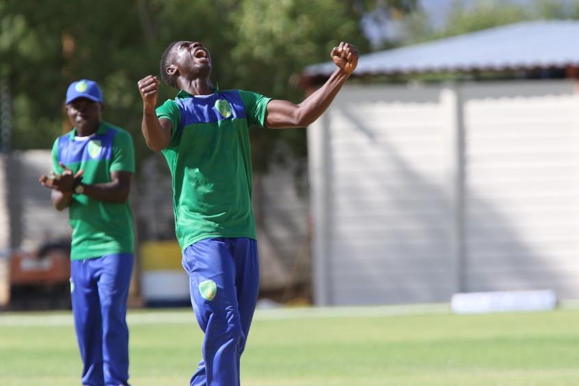 Charles Kargbo celebrates