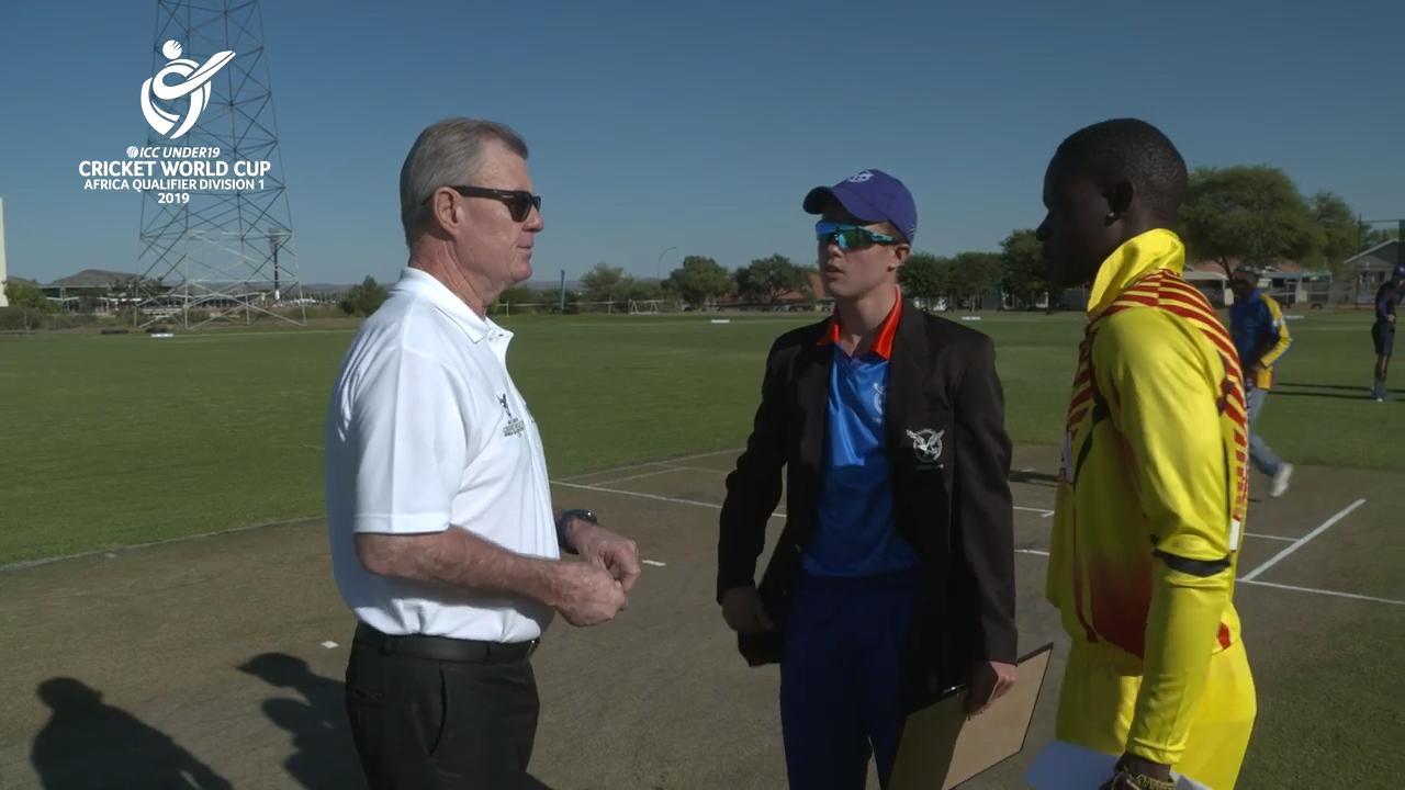 U19 CWC Africa Q: Namibia v Uganda – Toss and captain interviews
