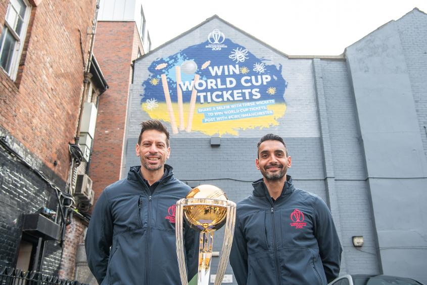Former England internationals Sajid Mahmood and Ajmal Shahzad helped launch the mural in Manchester