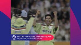 CWC Greatest Moments: Akram's two-in-two topples England in 1992 final