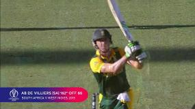 CWC Greatest Moments: AB's record-breaking day out v West Indies in 2015