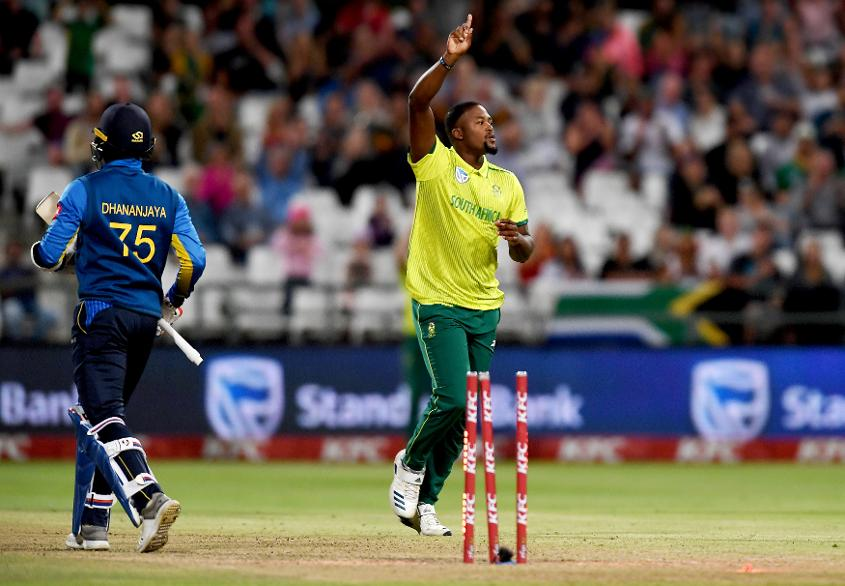 Andile Phehlukwayo has moved up 14 slots to No.10 after taking seven wickets in two matches