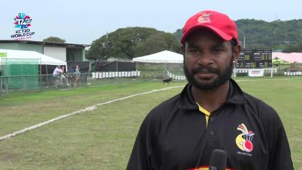 ICC Men's T20WC EAP Regional Final: Paua New Guinea v Vanuatu – PNG's Tony Ura is delighted after the win