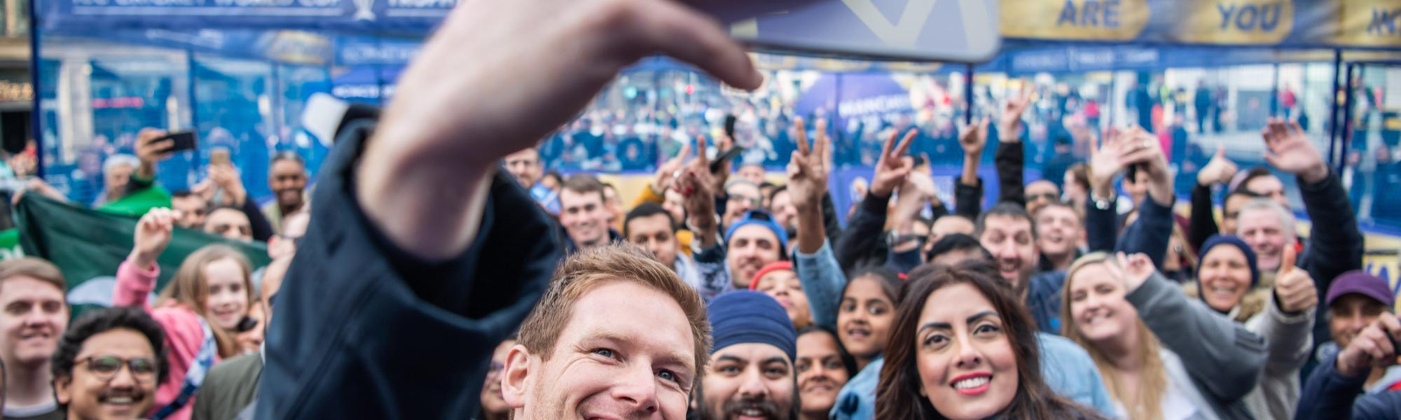 Eoin Morgan was a special guest at the Super Saturday event in Manchester