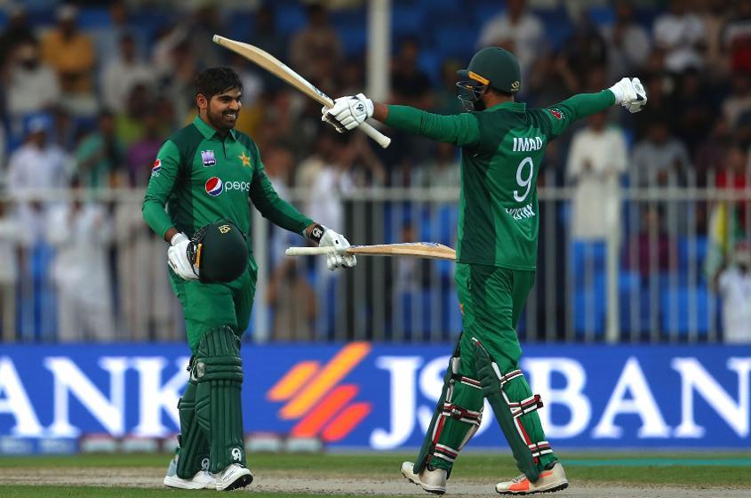 Haris Sohail celebrated his maiden ODI hundred recently