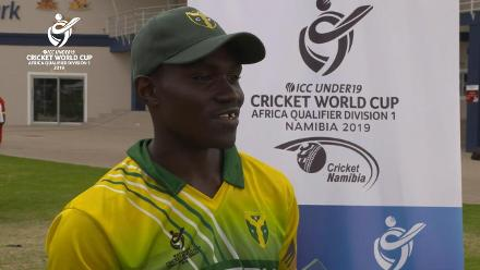 U19 CWC Africa Q: Sierra Leone v Nigeria: Nigeria's Aho Peter is Player of the Match