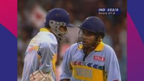 CWC Greatest Moments - Jadeja takes on Waqar in 1996