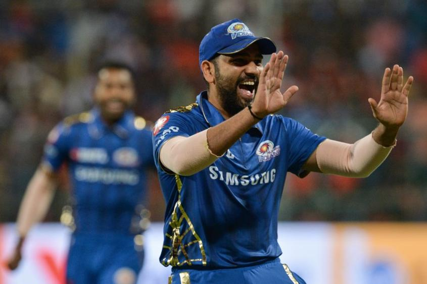 Mumbai Indians captain Rohit Sharma top-scored for his side – AFP