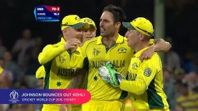 CWC Greatest Moments: Johnson bounces out Kohli in 2015 semi-final